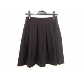 【中古】 セオリー theory スカート サイズ0 XS レディース ダークブラウン