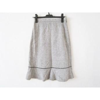 【中古】 ジユウク 自由区/jiyuku スカート サイズ38 M レディース 白 黒