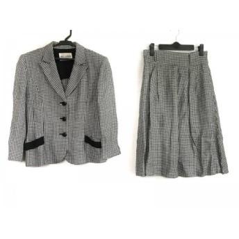 【中古】 ミスアシダ miss ashida スカートスーツ サイズ9 M レディース 黒 グレー