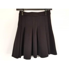 【中古】 アレキサンダーワン TbyALEXANDER WANG スカート サイズS レディース 美品 黒 プリーツ