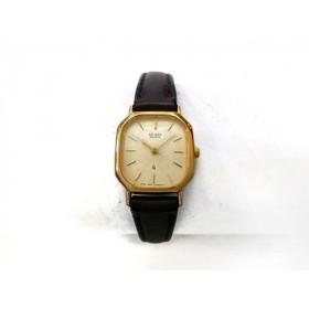 【中古】 シチズン CITIZEN 腕時計 - レディース 革ベルト/日本電信電話株式会社記念品 ゴールド