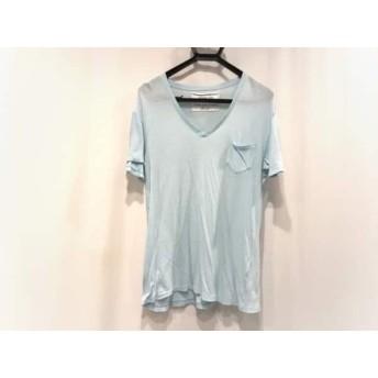 【中古】 ロンハーマン Ron Herman 半袖Tシャツ サイズL メンズ ライトブルー Vネック