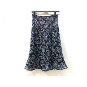 【中古】 ノーブランド スカート サイズF レディース 黒 グレー グリーン