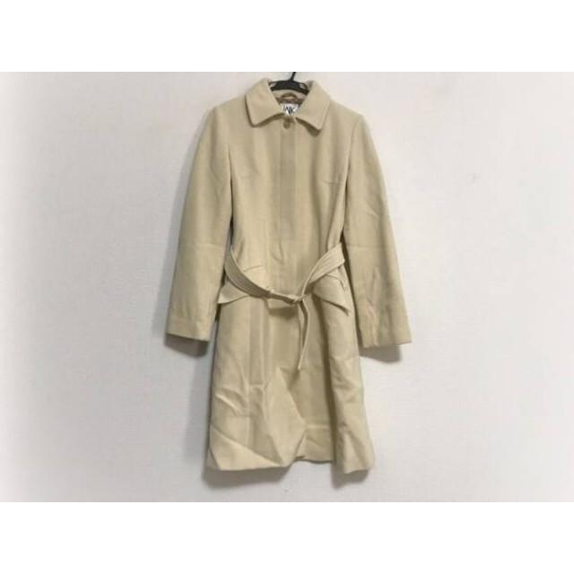 【中古】 ミッシェルクラン MICHELKLEIN コート サイズ40 M レディース アイボリー 冬物