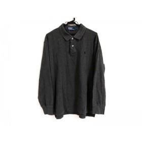 【中古】 ポロラルフローレン POLObyRalphLauren 長袖ポロシャツ サイズXXL XL メンズ ダークグレー