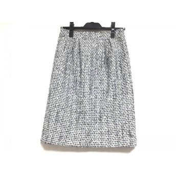 【中古】 ニジュウサンク 23区 スカート サイズ38 M レディース 黒 白 ツイード