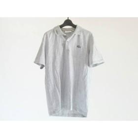 【中古】 ラコステ Lacoste 半袖ポロシャツ サイズ4 XL メンズ グレー