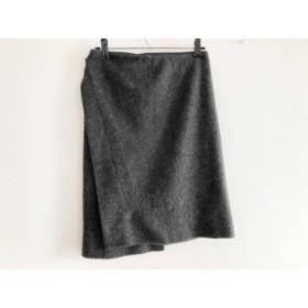 【中古】 アレキサンダーワン ALEXANDER WANG 巻きスカート サイズ0 XS レディース ダークグレー 黒