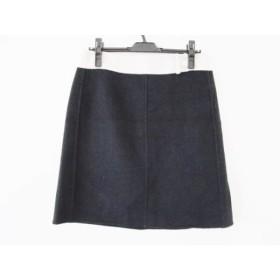 【中古】 マックスマーラ S Max Mara スカート サイズ42(J) レディース 黒 アイボリー