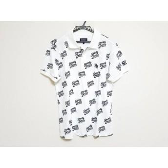 【中古】 パーリーゲイツ PEARLY GATES 半袖ポロシャツ サイズ5 XL メンズ 美品 白 ダークネイビー
