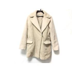 【中古】 ミーア Miia コート サイズ2 M レディース ベージュ ボア/冬物
