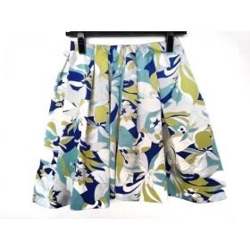 【中古】 ドロシーズ DRWCYS スカート サイズ1 S レディース 美品 グレー ブルー マルチ 花柄