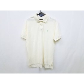 【中古】 ポロラルフローレン 半袖ポロシャツ サイズL メンズ 美品 アイボリー ライトグリーン
