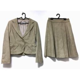 【中古】 クレージュ COURREGES スカートスーツ サイズ38 M レディース ベージュ