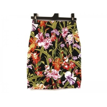 【中古】 ピンキー&ダイアン Pinky & Dianne スカート サイズ34 S レディース 黒 マルチ 花柄