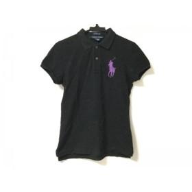 【中古】 ラルフローレン RalphLauren 半袖ポロシャツ サイズS レディース ビッグポニー 黒 パープル