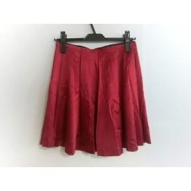 【中古】 セオリー theory ミニスカート サイズS レディース レッド 黒 シルク