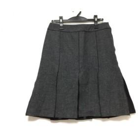 【中古】 ジユウク 自由区/jiyuku スカート サイズ40 M レディース ダークグレー 黒