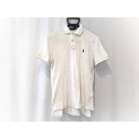 【中古】 ポロラルフローレン POLObyRalphLauren 半袖ポロシャツ サイズM メンズ アイボリー パイル地