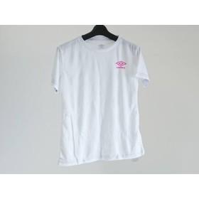 【中古】 アンブロ UMBRO 半袖Tシャツ サイズM レディース 白 ライトブルー ピンク