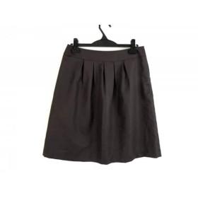 【中古】 ジユウク 自由区/jiyuku スカート サイズ40 M レディース ダークブラウン