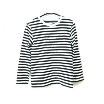 【中古】 アニエスベー agnes b 長袖Tシャツ サイズT1 レディース 白 黒 ボーダー