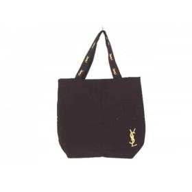 【中古】 イヴサンローランパフューム YvesSaintLaurent PARFUMS トートバッグ 黒 キャンバス