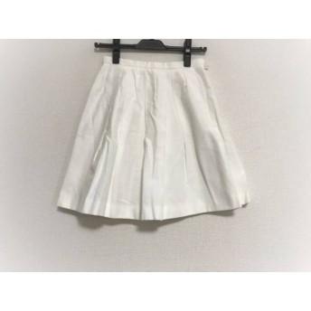 【中古】 アプワイザーリッシェ Apuweiser-riche スカート サイズ0 XS レディース 白 プリーツ