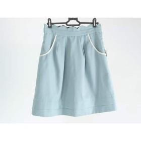 【中古】 アプワイザーリッシェ スカート サイズ2 M レディース ライトグリーン 白 黒 リバーシブル