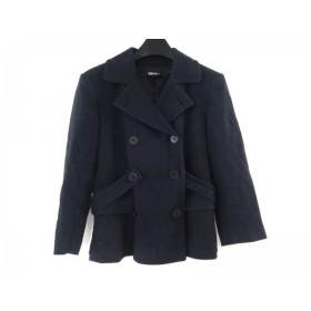 【中古】 ダナキャラン DKNY ジャケット サイズ2 M レディース ネイビー