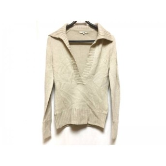 【中古】 ニジュウサンク 23区 半袖セーター サイズ38 M レディース ベージュ