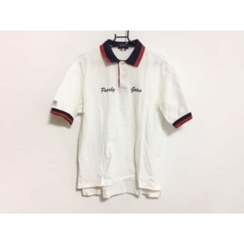 【中古】 パーリーゲイツ PEARLY GATES 半袖ポロシャツ サイズS メンズ 白 ダークネイビー レッド