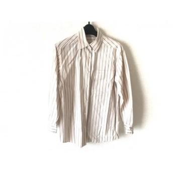 【中古】 バーバリーズ Burberry's 長袖シャツ サイズ9 メンズ 白 レッド マルチ ストライプ