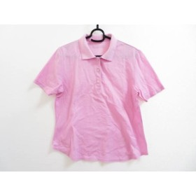 【中古】 ランバンスポーツ LANVIN SPORT 半袖ポロシャツ サイズ40 M レディース ピンク