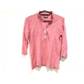 【中古】 ラコステ Lacoste 七分袖ポロシャツ サイズ38 M レディース ピンク