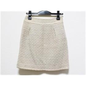 【中古】 ジャスグリッティー JUSGLITTY スカート サイズ2 M レディース ベージュ ラメ