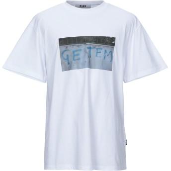 《9/20まで! 限定セール開催中》MSGM メンズ T シャツ ホワイト S コットン 100%