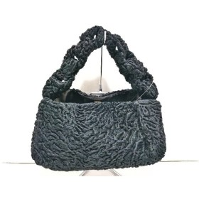【中古】 フェンディ FENDI ハンドバッグ - - 黒 天然繊維