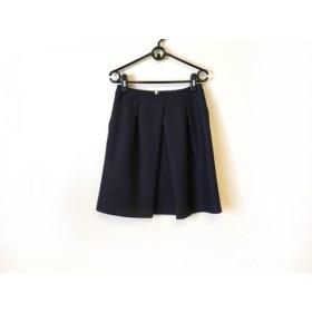 【中古】 トゥモローランド スカート サイズ36 S レディース 美品 ダークネイビー collection