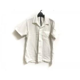 【中古】 カズユキクマガイ KAZUYUKI KUMAGAI 半袖シャツ サイズ1 S メンズ アイボリー 麻
