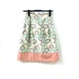 【中古】 ローラアシュレイ LAURAASHLEY スカート サイズ1 S レディース グレー マルチ