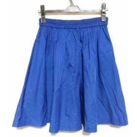【中古】 ティアラ Tiara スカート サイズ3 L レディース 美品 ブルー