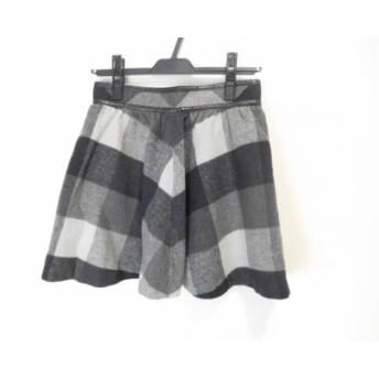 【中古】 アプワイザーリッシェ スカート サイズ2 M レディース 黒 グレー ライトグレー チェック柄