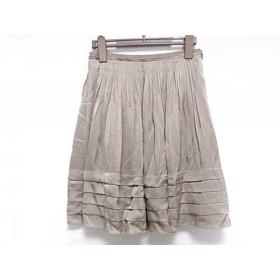 【中古】 ダブルスタンダードクロージング スカート サイズ36 S レディース ベージュ プリーツ