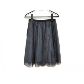 【中古】 アプワイザーリッシェ スカート サイズ0 XS レディース 美品 黒 ダークネイビー