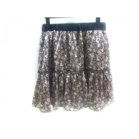 【中古】 クランプリュス KLEIN PLUS スカート サイズ40 M レディース パープル マルチ