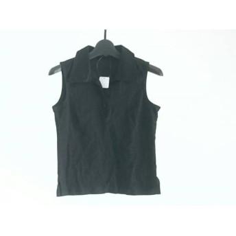 【中古】 ルスーク Le souk ノースリーブポロシャツ サイズ2 M レディース 黒
