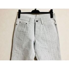 【中古】 5351プールオム 5351 PourLesHomme パンツ サイズ1 S メンズ ライトグレー 型押し加工