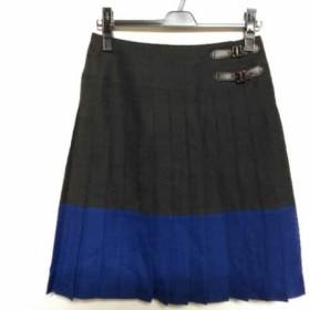 【中古】 ジユウク 自由区/jiyuku スカート サイズ34 S レディース 黒 ブルー プリーツ