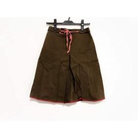 【中古】 ビーシービージーマックスアズリア スカート サイズ0 XS レディース ダークブラウン レッド